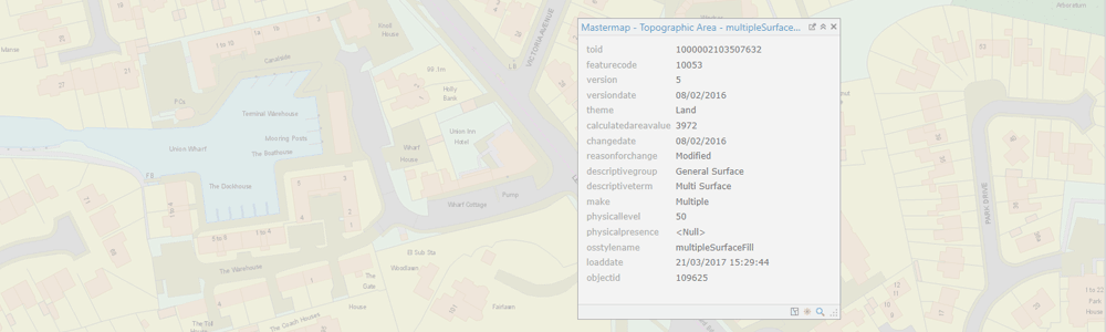 Map Data - Mastermap Topograpy Layer