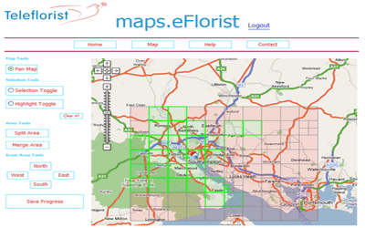 eFlorist Retail Delivery Area Management