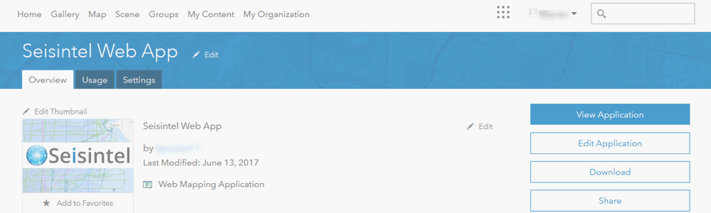 Seisintel ArcGIs Online Integration